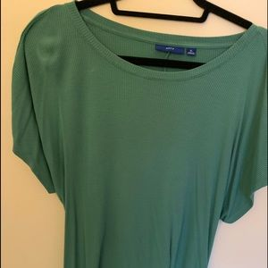3/$25 Dusty Green tunic with tie back